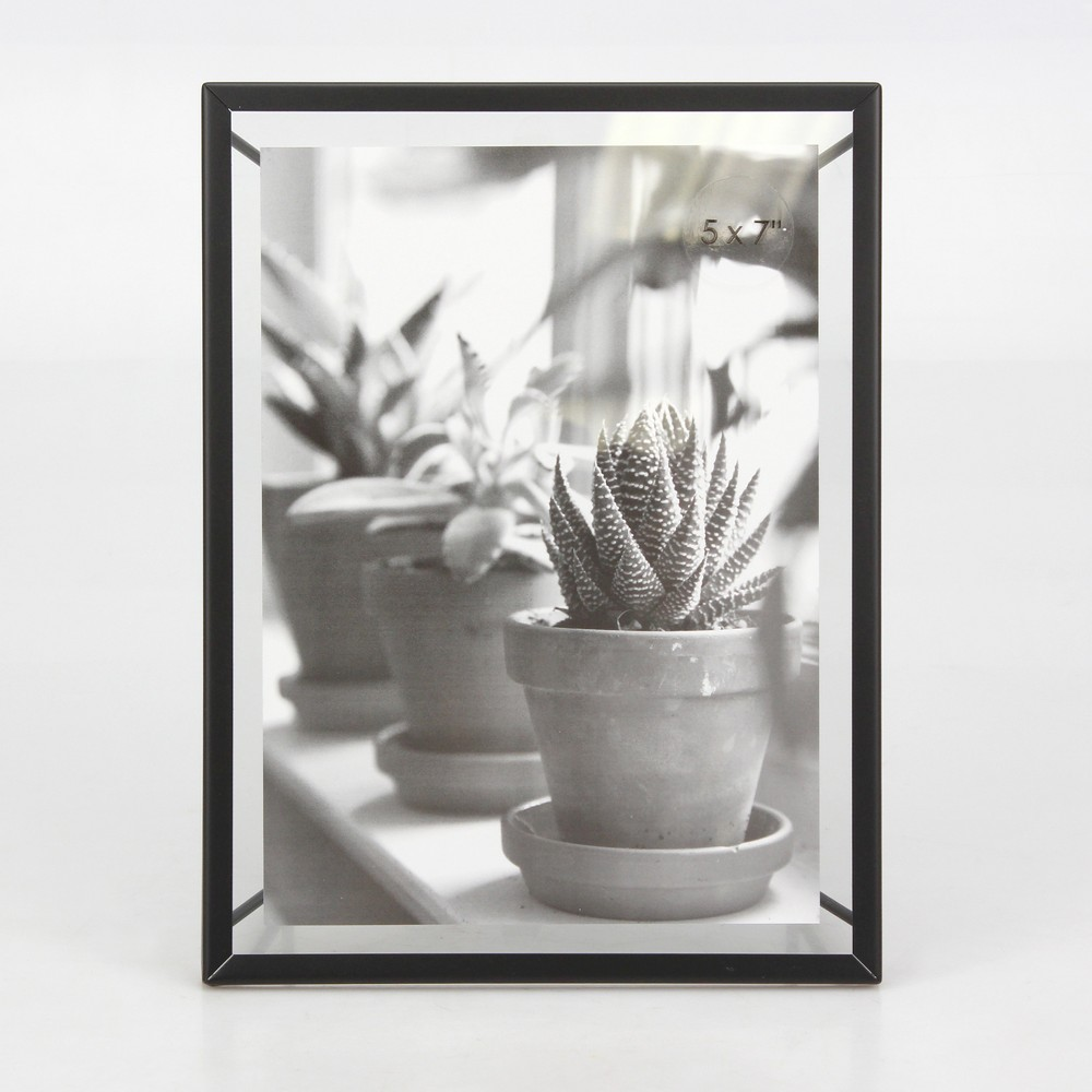 "5"" x 7"" Frame with Symmetrical Wire Back Satin Black - Project 62 from Project 62"