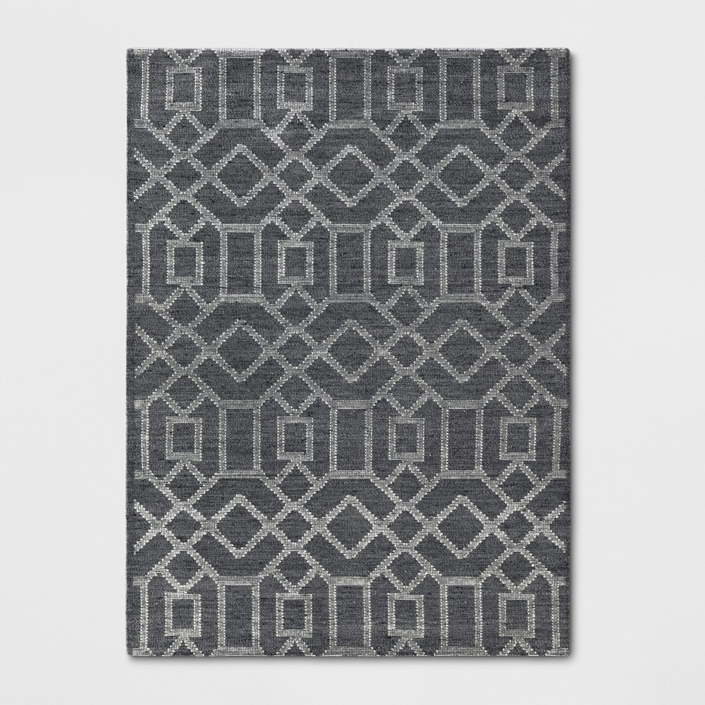 5'X7' Tapestry Tufted Geometric Area Rug Charcoal Heather - Project 62 from Project 62