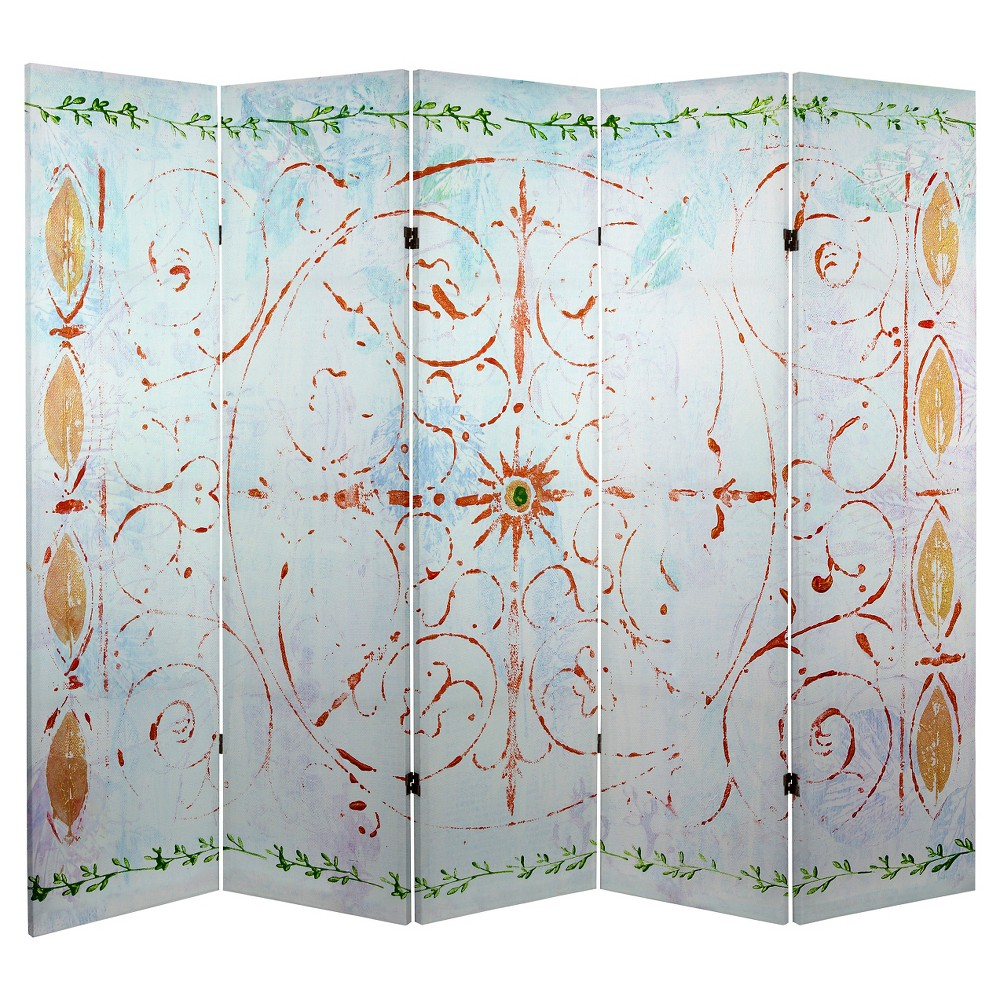 5 ft. Tall Winter's Peace Canvas Room Divider - Oriental Furniture from Oriental Furniture