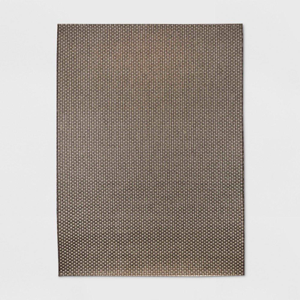 5' x 7' Basketweave Outdoor Rug Coffee - Smith & Hawken from Smith & Hawken