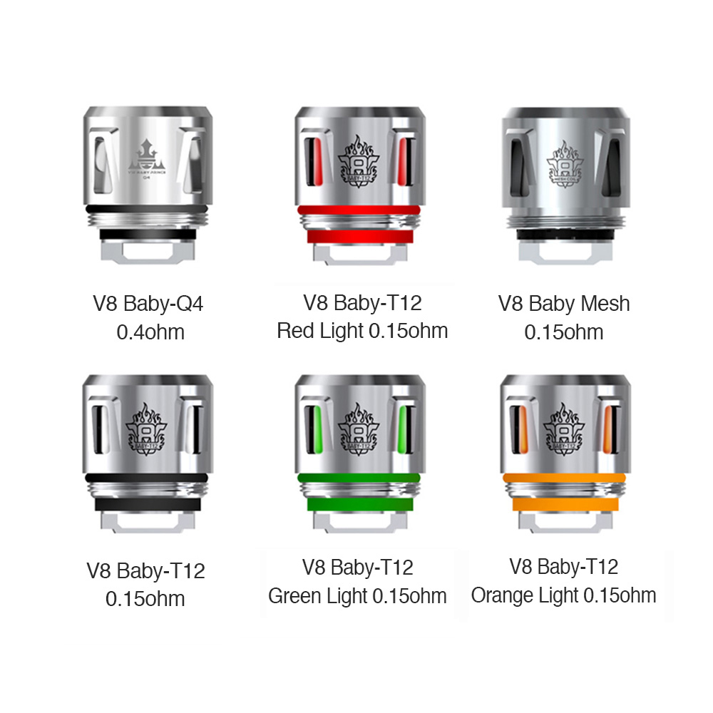 SMOK V8 Baby Replacement Coil 5pcs(V8 Baby-T8 0.15ohm, Standard Version)
