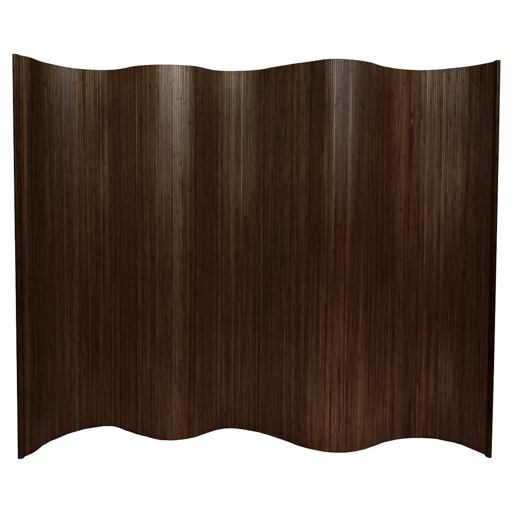 6 ft. Tall Bamboo Wave Screen - Dark Mocha from Oriental Furniture