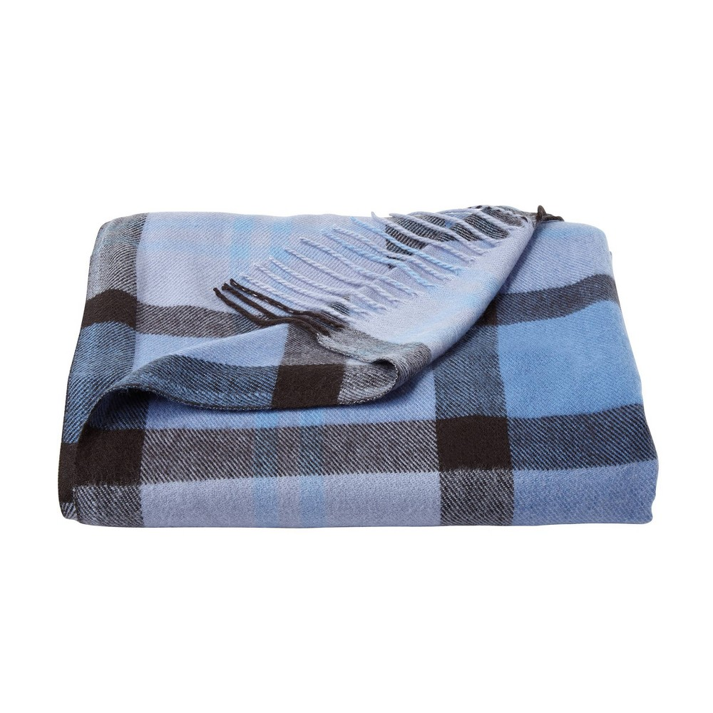 "60""x70"" Breathable and Stylish Soft Night Shadow Plaid Throw Blanket - Yorkshire Home from Yorkshire Home"