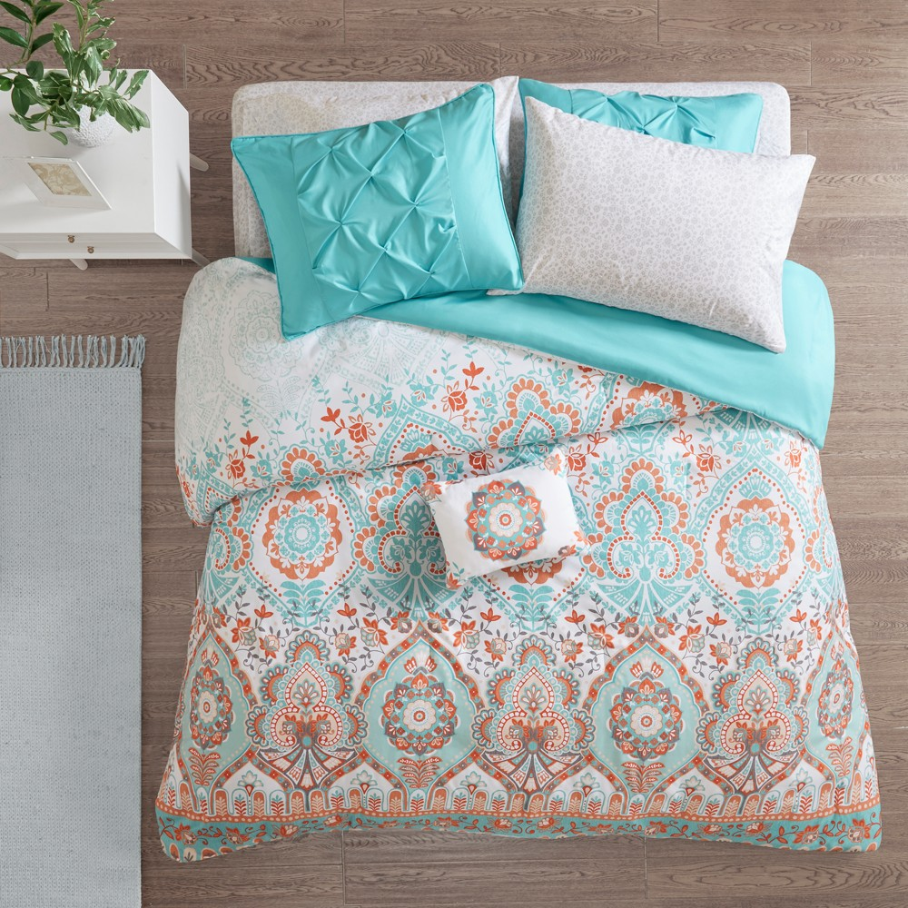 6pc Twin Skylar Comforter and Sheet Set Aqua from Distributed by Target