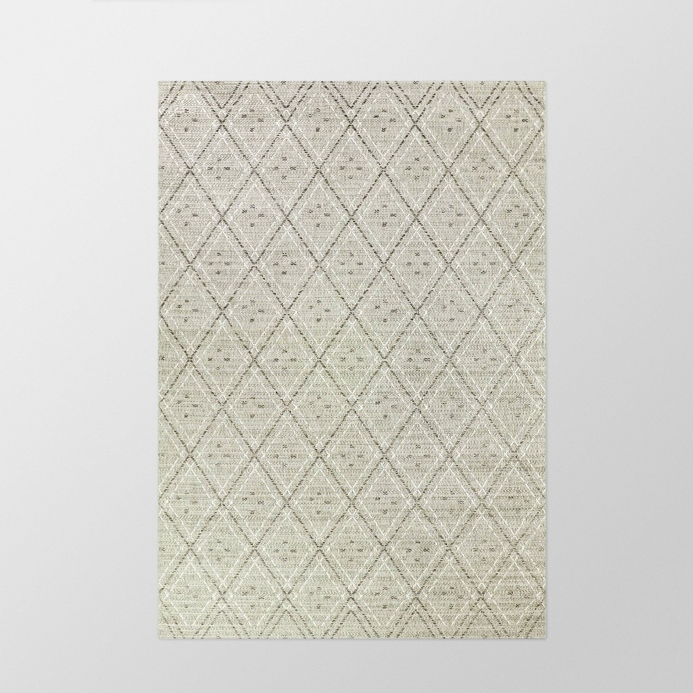 "7'10"" x 10' Diamond Outdoor Rug Gray - Smith & Hawken from Smith & Hawken"