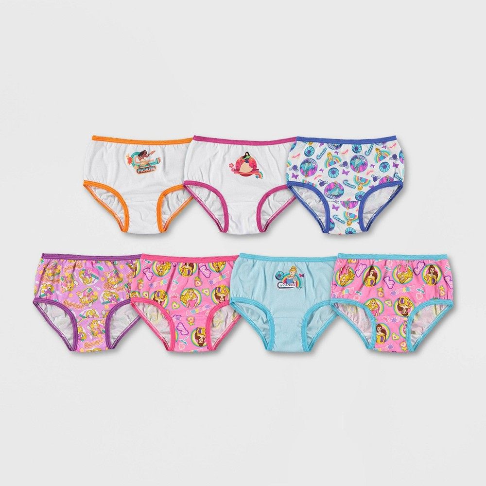 Toddler Girls' Disney Princess 7 Pack Underwear 2T-3T from Disney Princess
