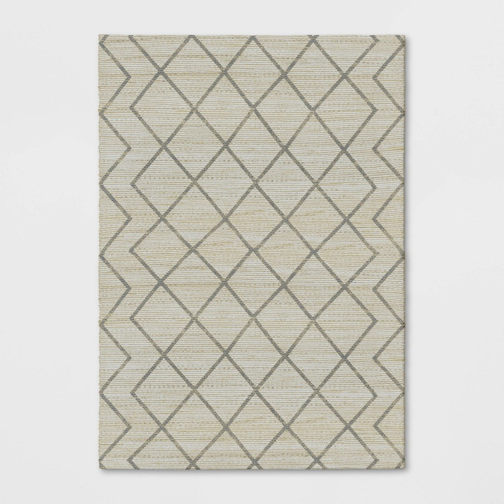 7'x10' Kagen Printed Woven Geometric Rug Ivory - Project 62 from Project 62