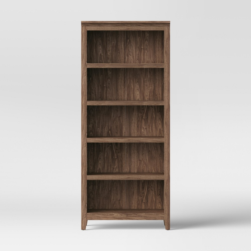 72 Carson 5-Shelf Bookcase Walnut Brown - Threshold