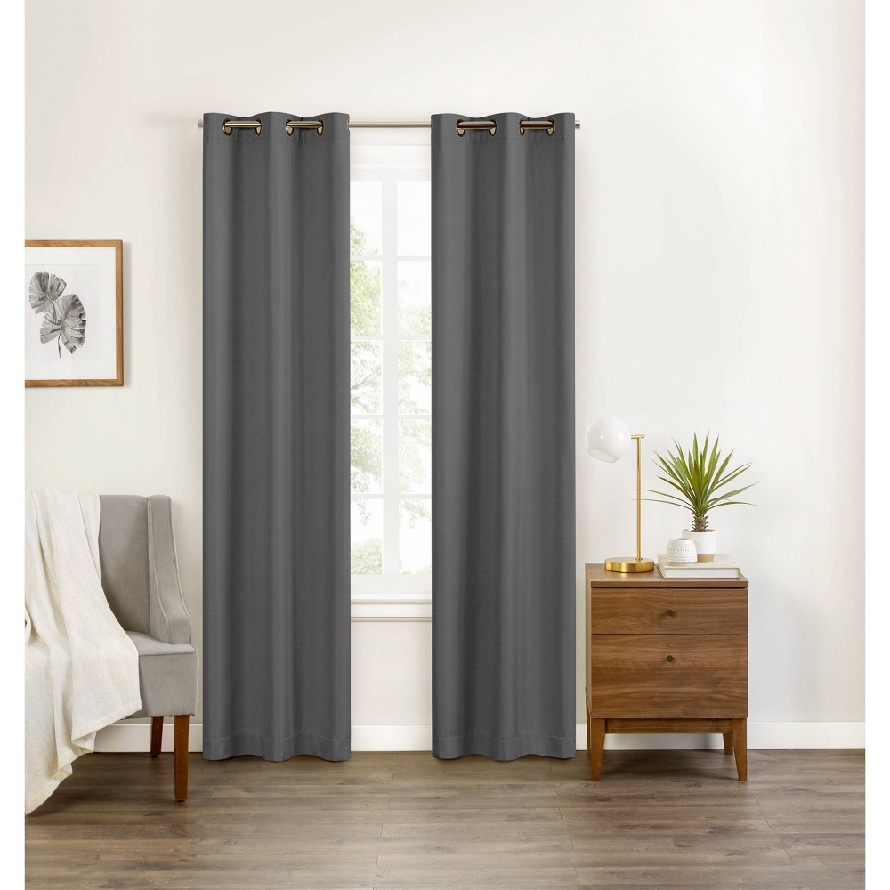 "84""x40"" Celeste Draft Stopper Blackout Curtain Panel Gray - Eclipse"