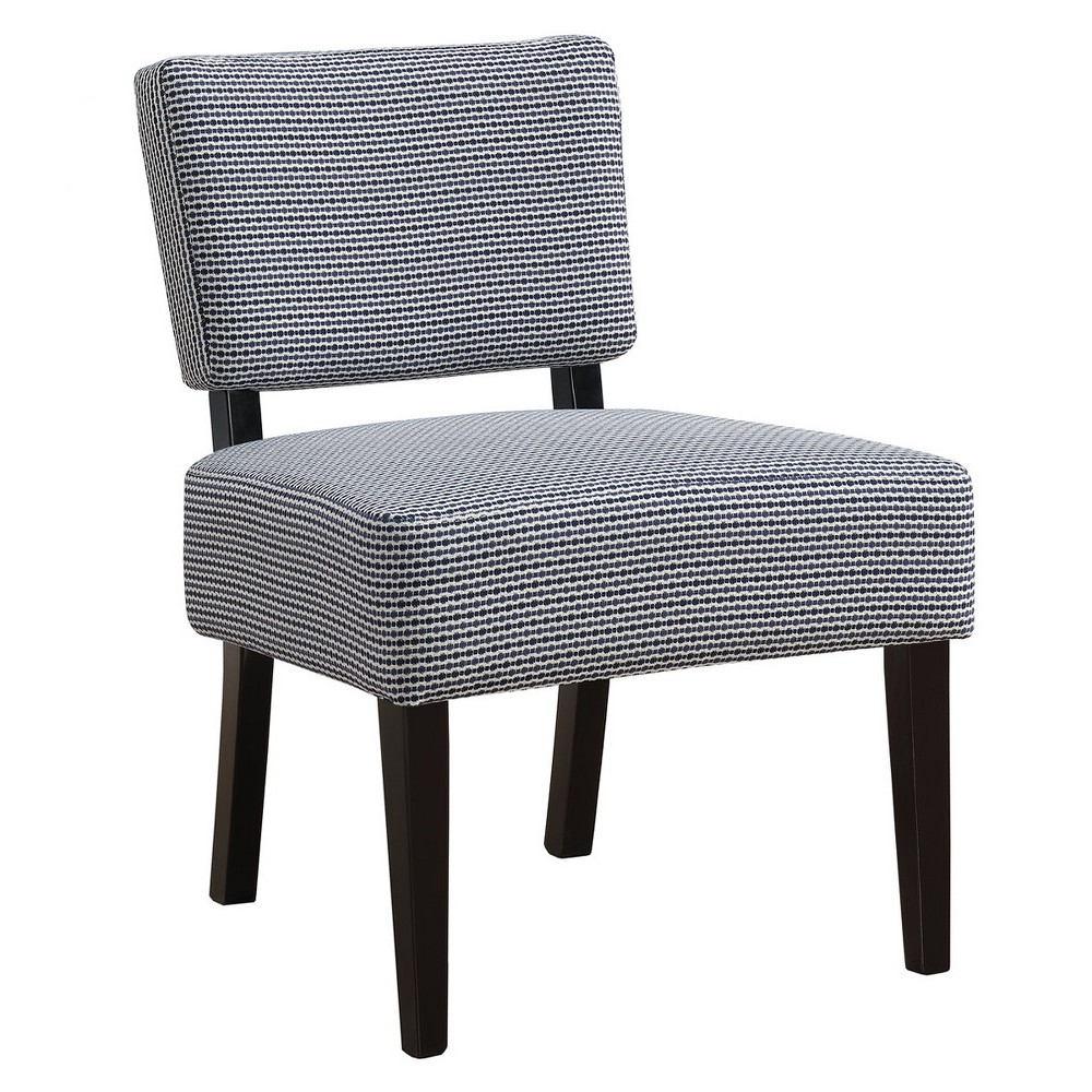 Accent Chair Abstract Dot Fabric Dark Blue - EveryRoom from EveryRoom