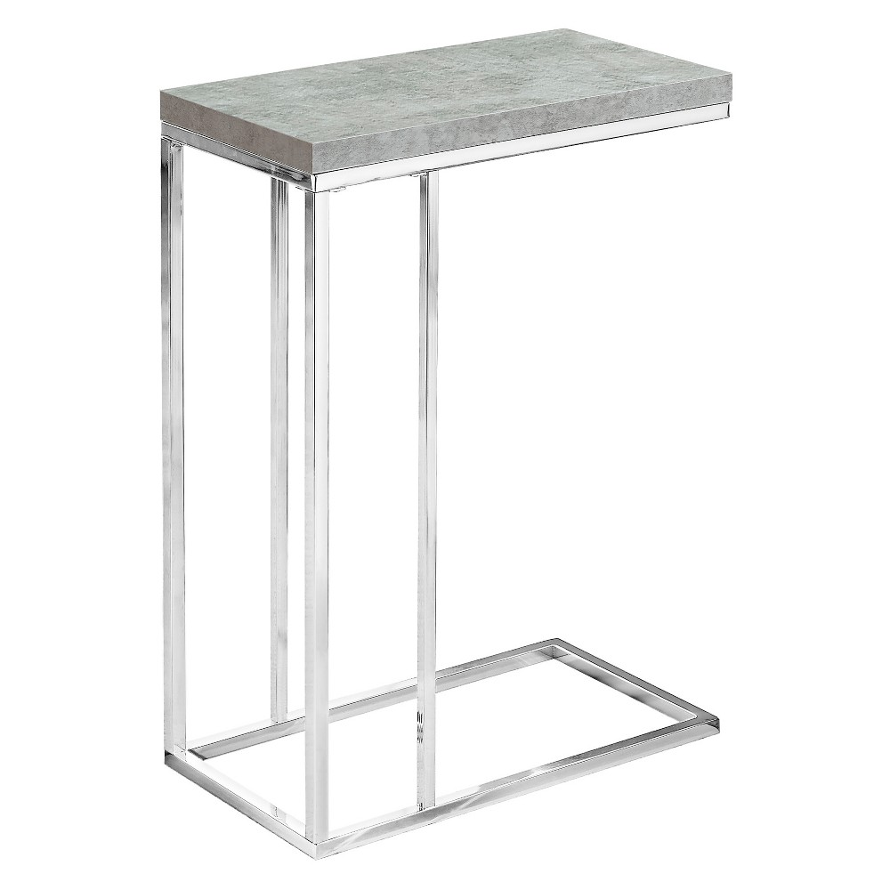 C Shape Metal Accent Table Gray - EveryRoom from EveryRoom