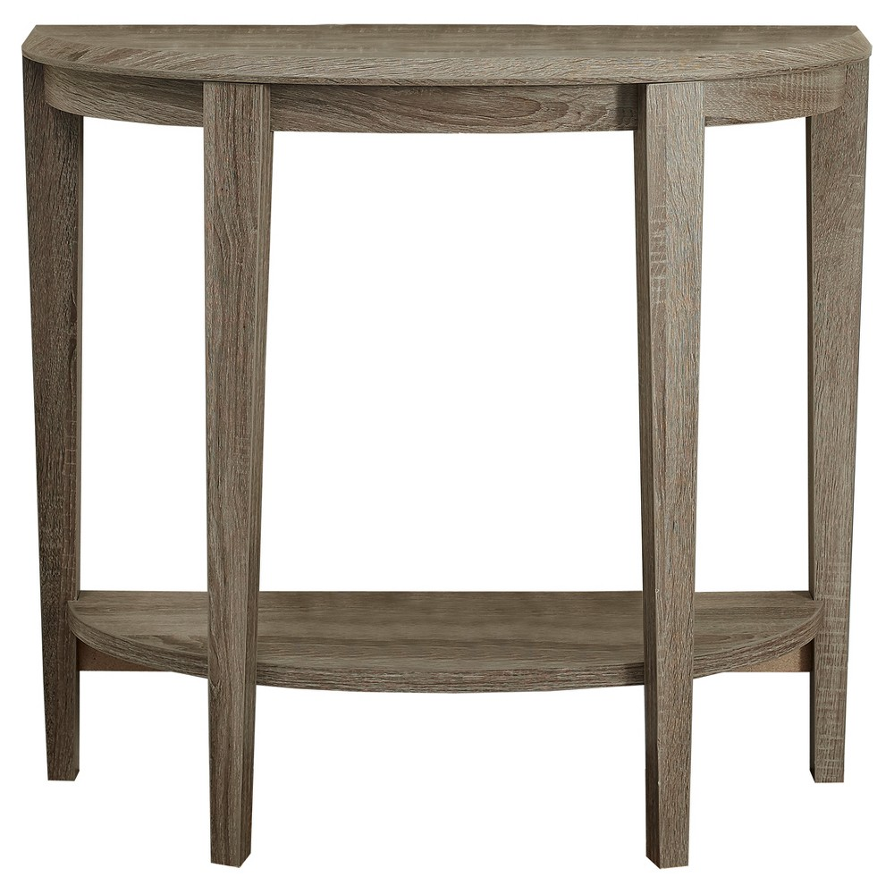 Accent Table - Half Moon Shape - Dark Taupe - EveryRoom from EveryRoom