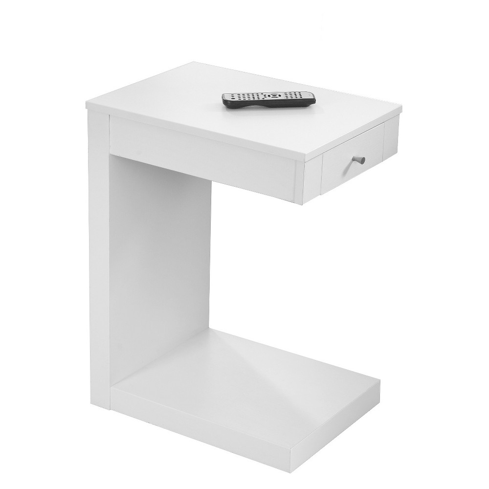 Accent Table with Drawer White - EveryRoom from EveryRoom