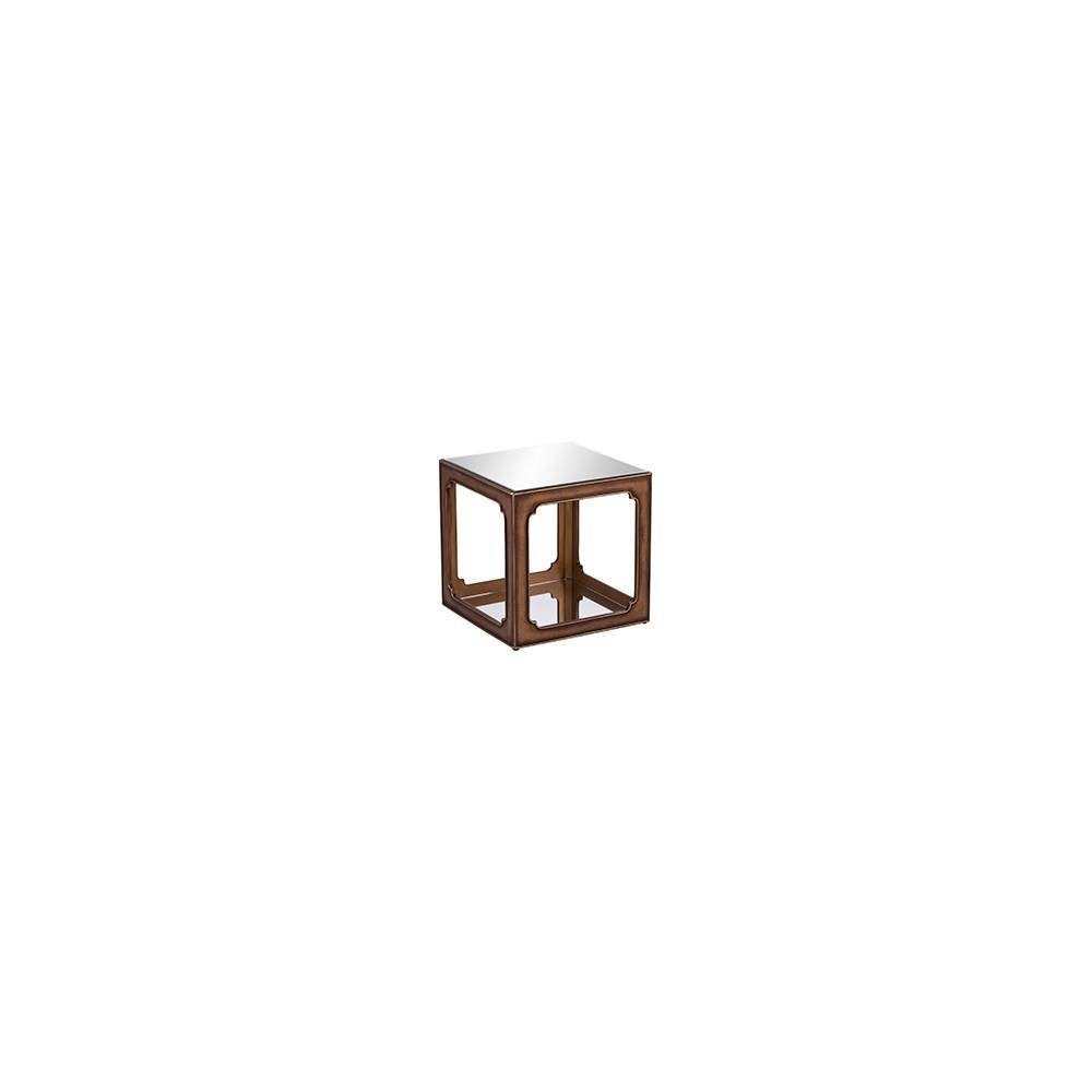 Alfristan Mirrored Square Accent Table Brass - Aiden Lane from Aiden Lane
