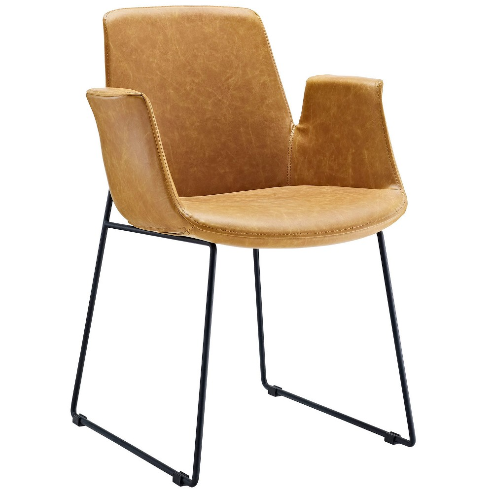 Aloft Dining Armchair Light Brown - Modway from Modway