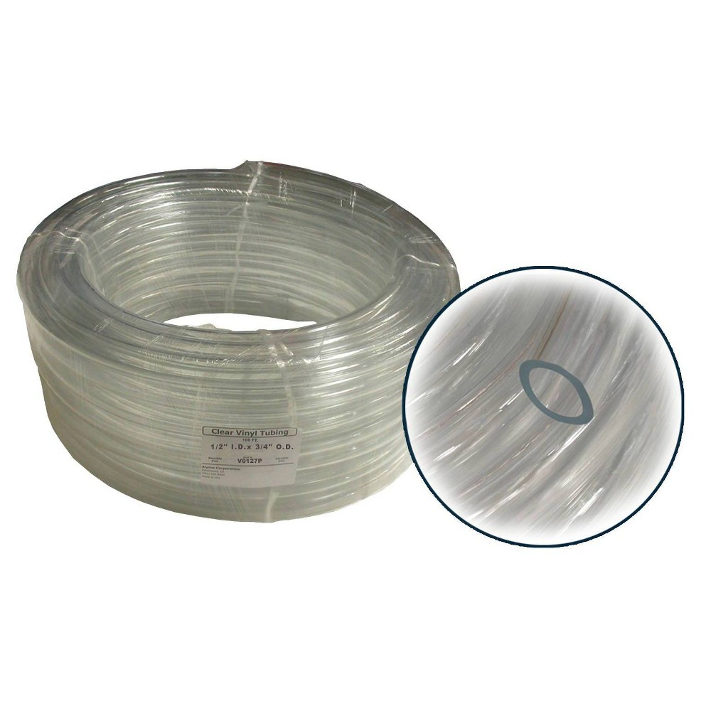 "Alpine 1/2"" x 100' Wall PVC Clear Tubing Coil from Alpine Corporation"
