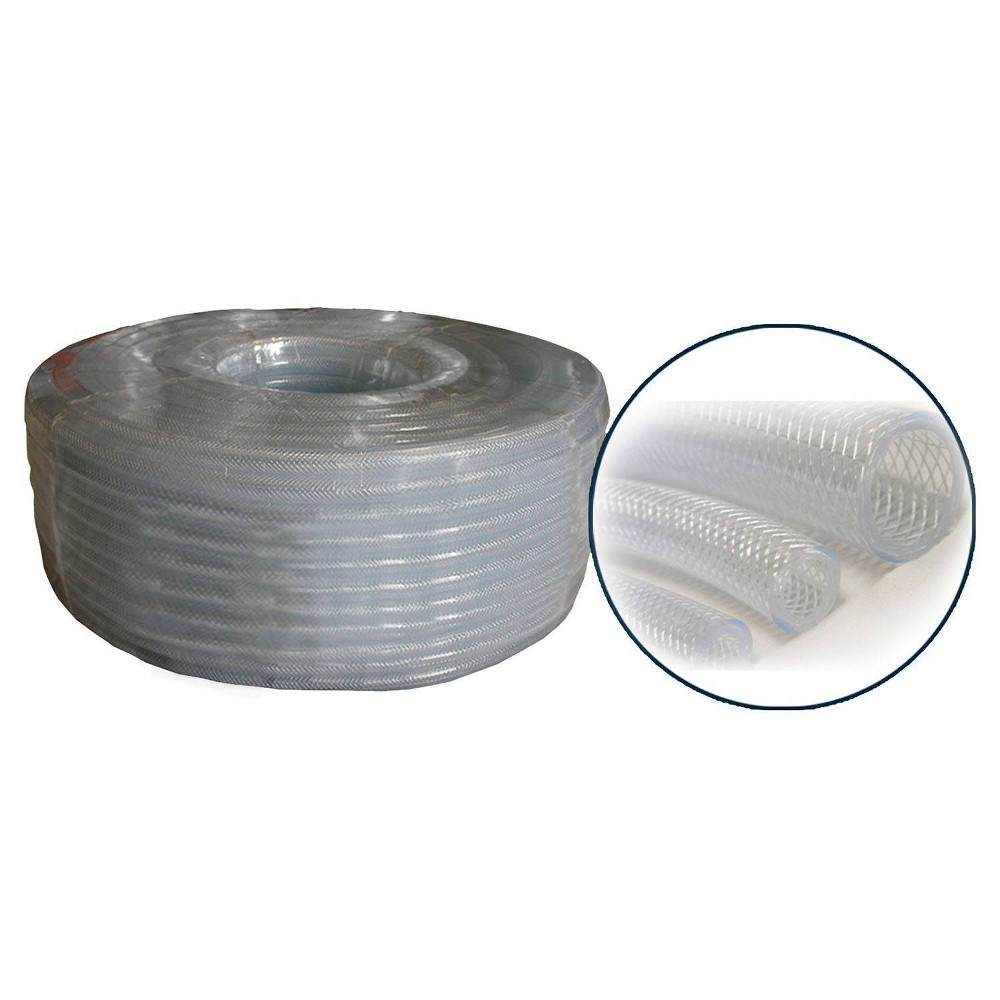 "Alpine 5/8"" x 100' PVC Clear Braided Tubing Coil from Alpine Corporation"