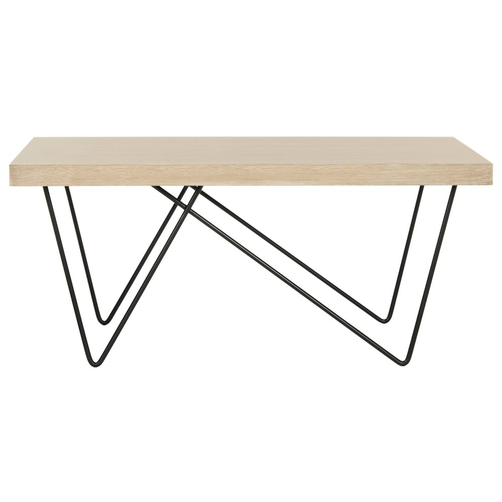 Amos Coffee Table - Light Brown - Safavieh