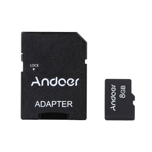 Andoer 8GB Class 10 Memory Card TF Card + Adapter + Card Reader USB Flash Drive from andoer
