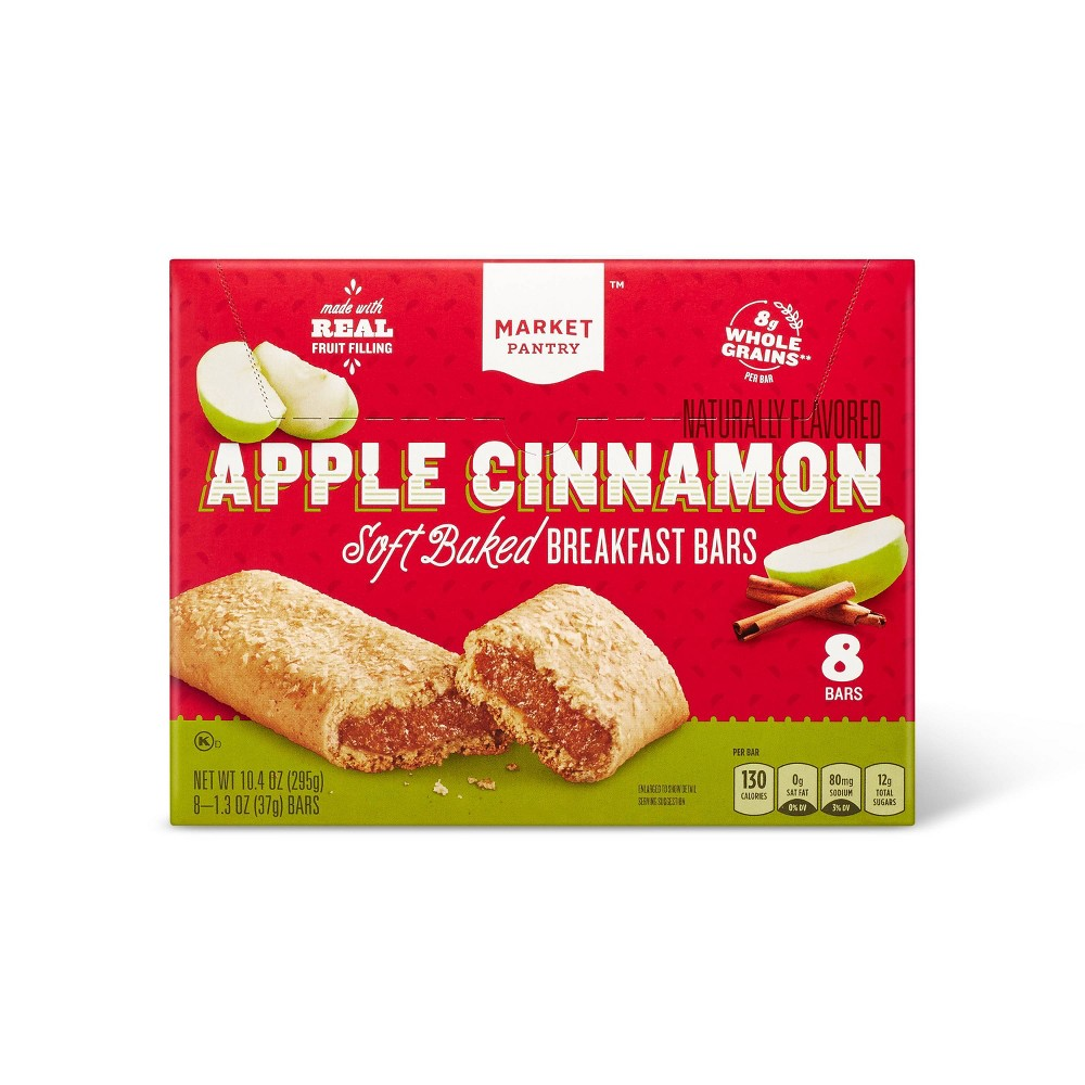 Apple Cinnamon Soft baked Breakfast Bars 8ct - Market Pantry from Market Pantry