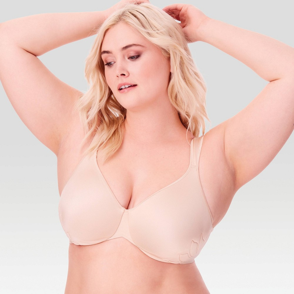 Bali Women's Live It Up Seamless Underwire Bra 3353 Soft Taupe - 38D, Soft Brown from Bali