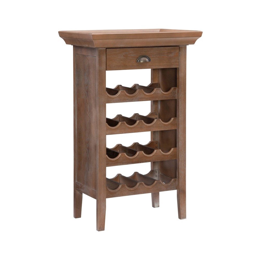 Banner Wine Cabinet White - Powell Company from Powell Company