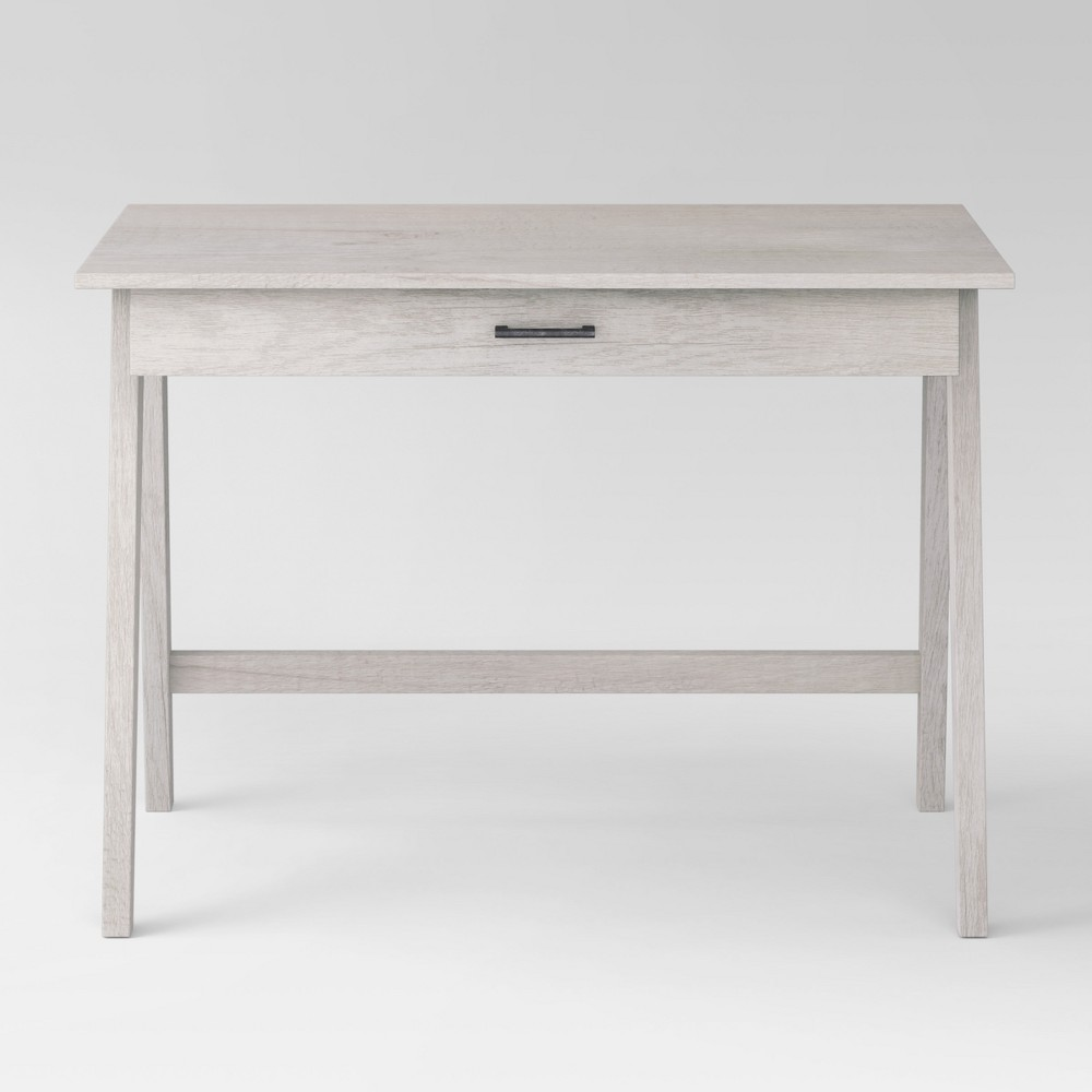 Paulo Wood Writing Desk with Drawer White Wash - Project 62 from Project 62