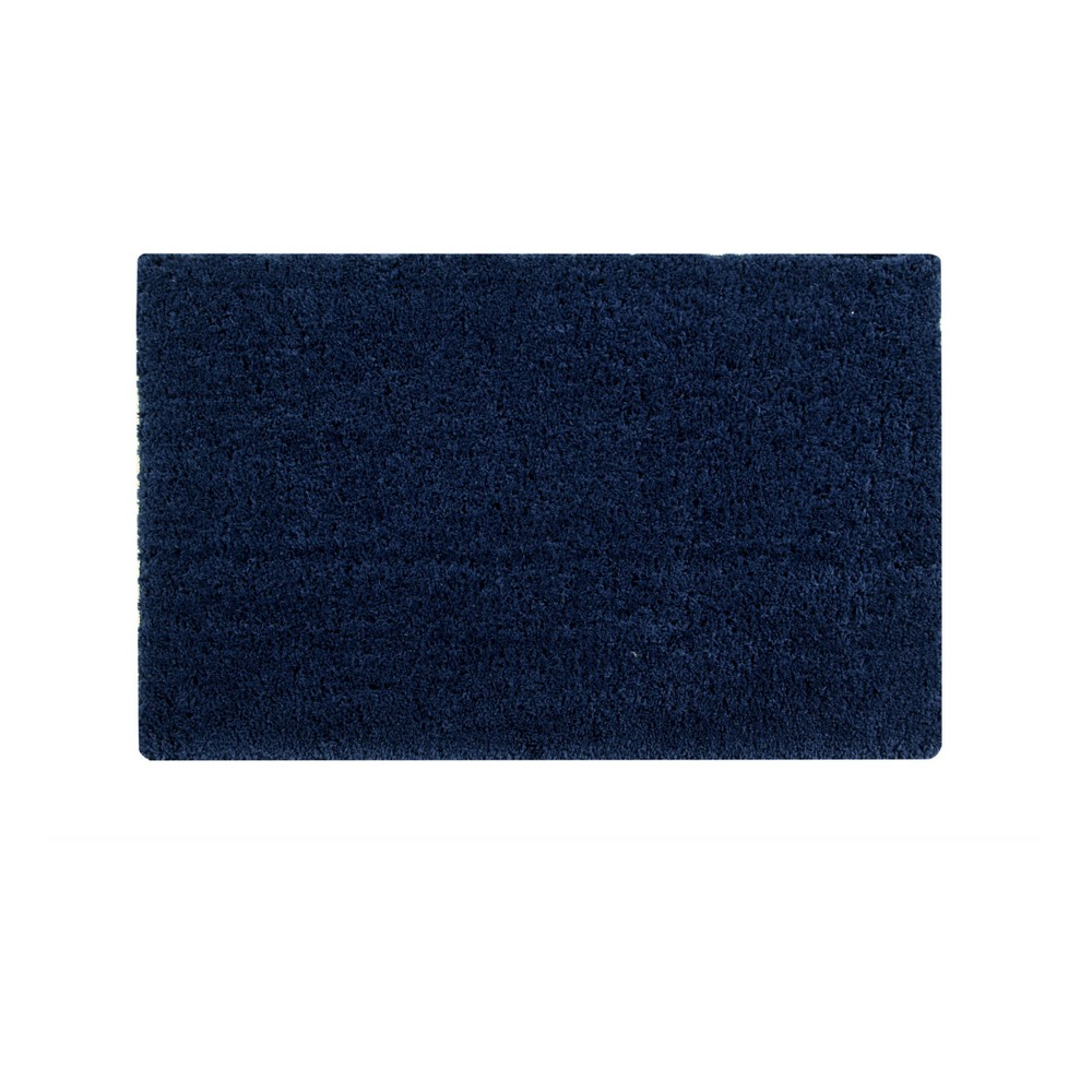 "24""x40"" Micro Plush Collection 100% Micro Polyester Rectangle Bath Rug Navy - Better Trends from Better Trends"