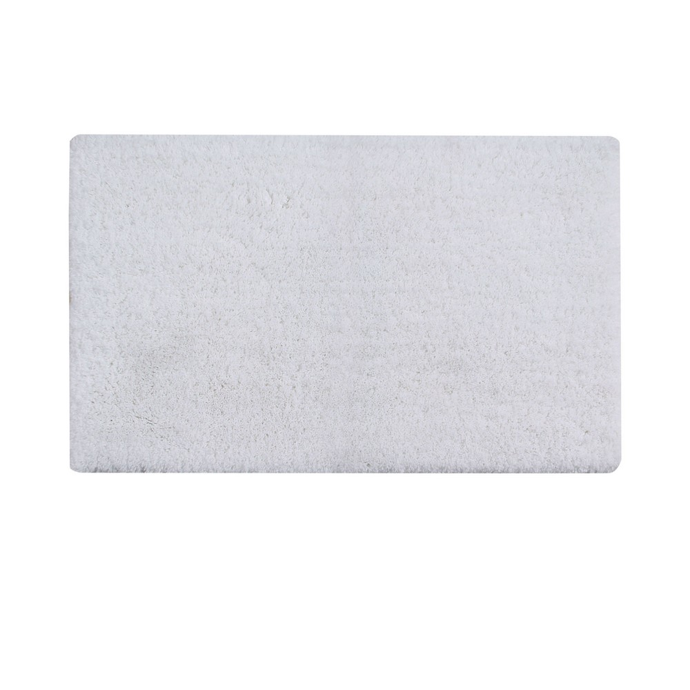 "21""x34"" Micro Plush Collection 100% Micro Polyester Rectangle Bath Rug White - Better Trends from Better Trends"