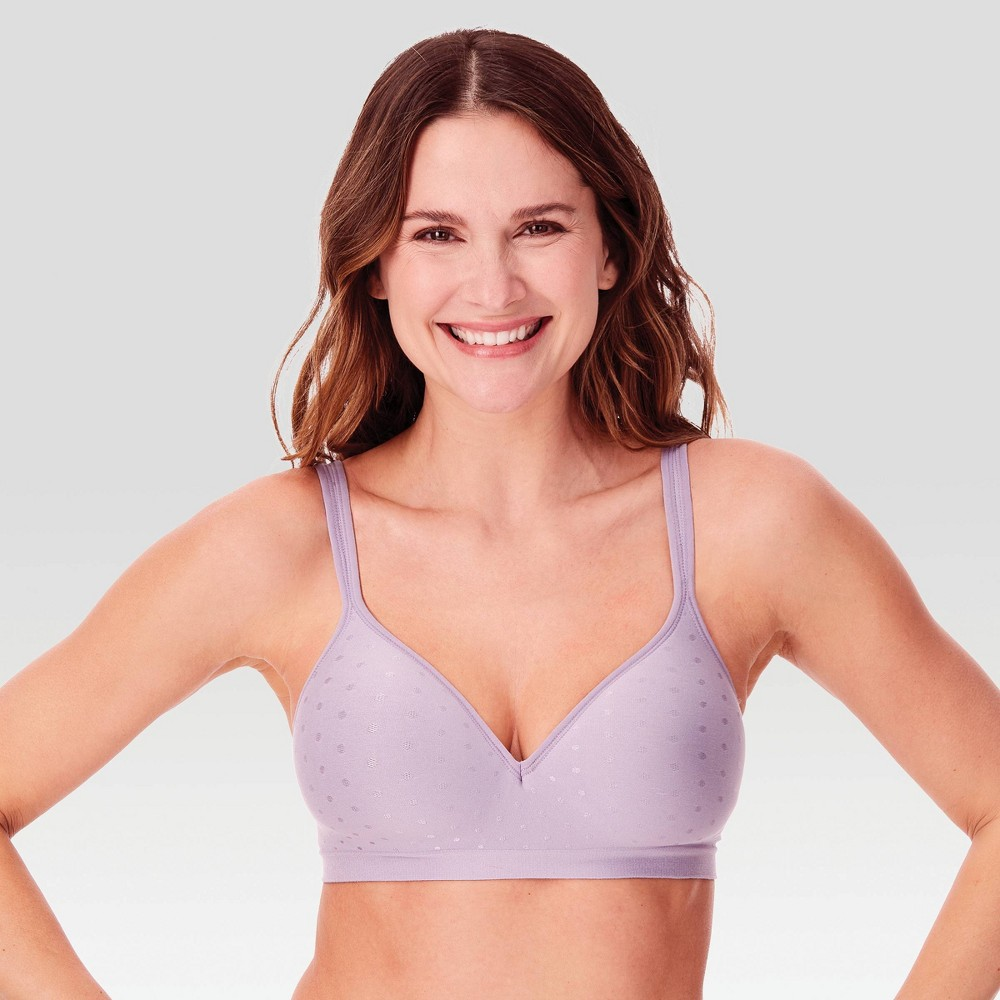 Beauty by Bali Women's Foam Wirefree Bra B540 - Amethyst Purple Quartz Dot 36D from Bali