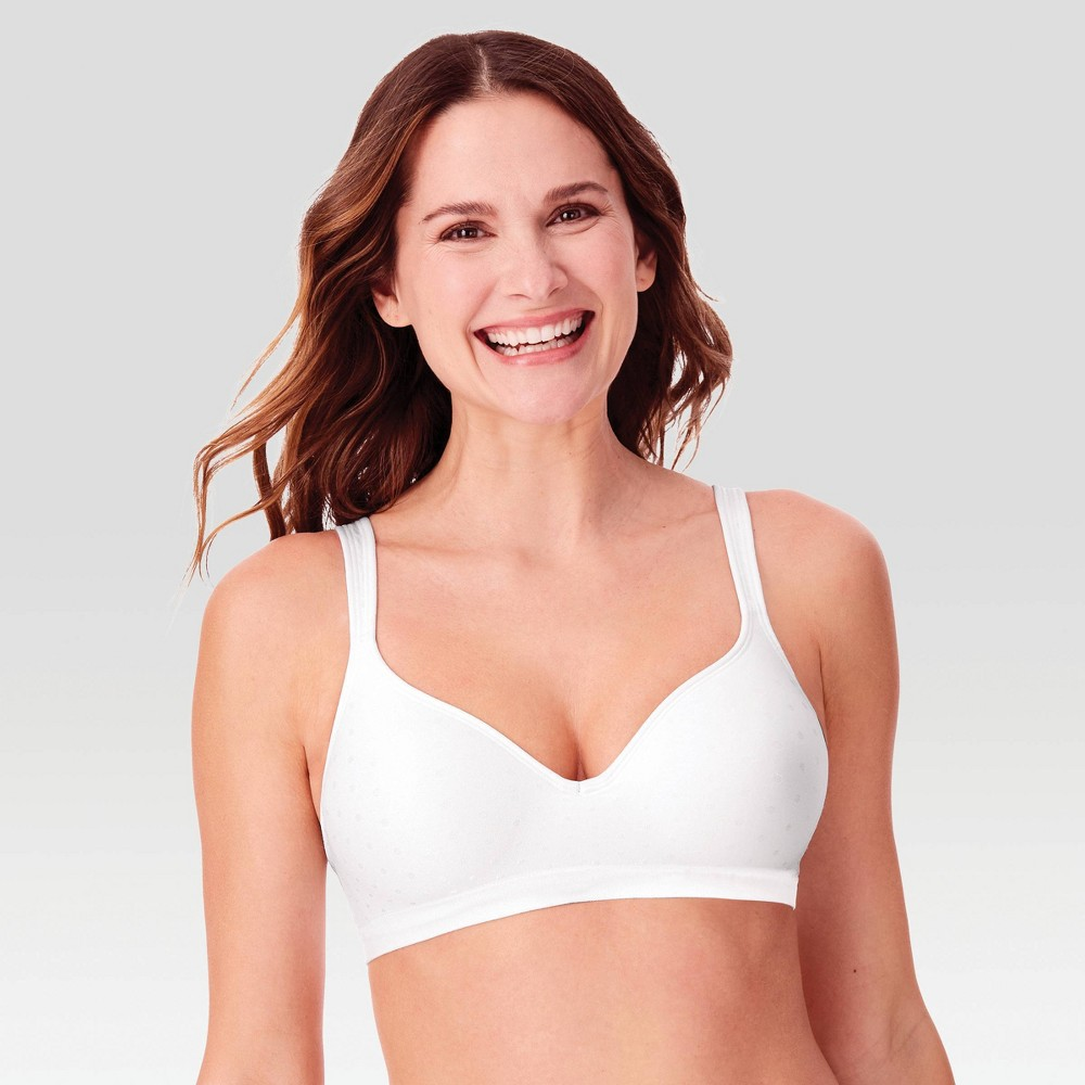 Beauty by Bali Women's Foam Wirefree Bra B540 - White Dot 40C from Bali
