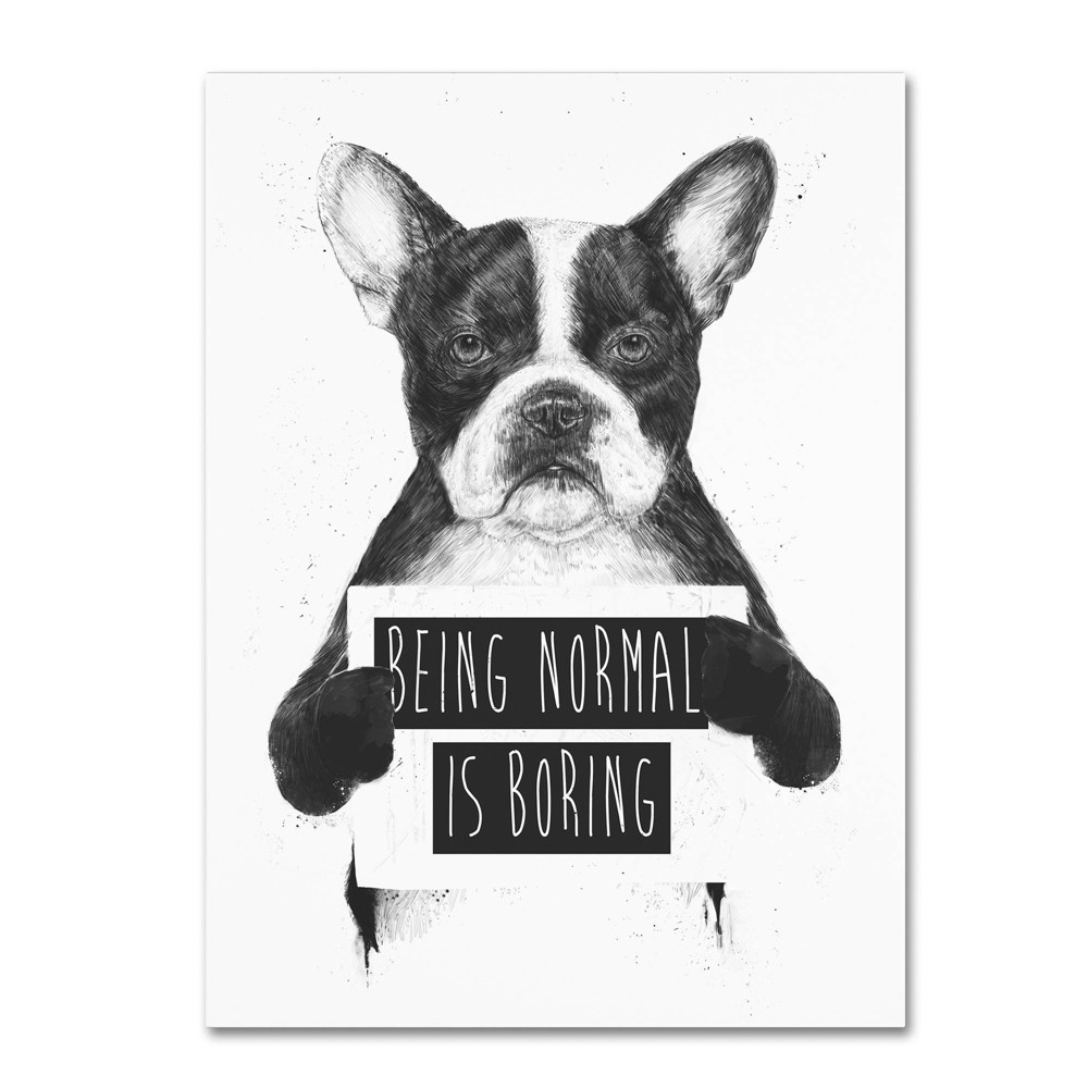 "24"" x 32"" Being Normal Is Boring by Balazs Solti - Trademark Fine Art from Trademark Global"