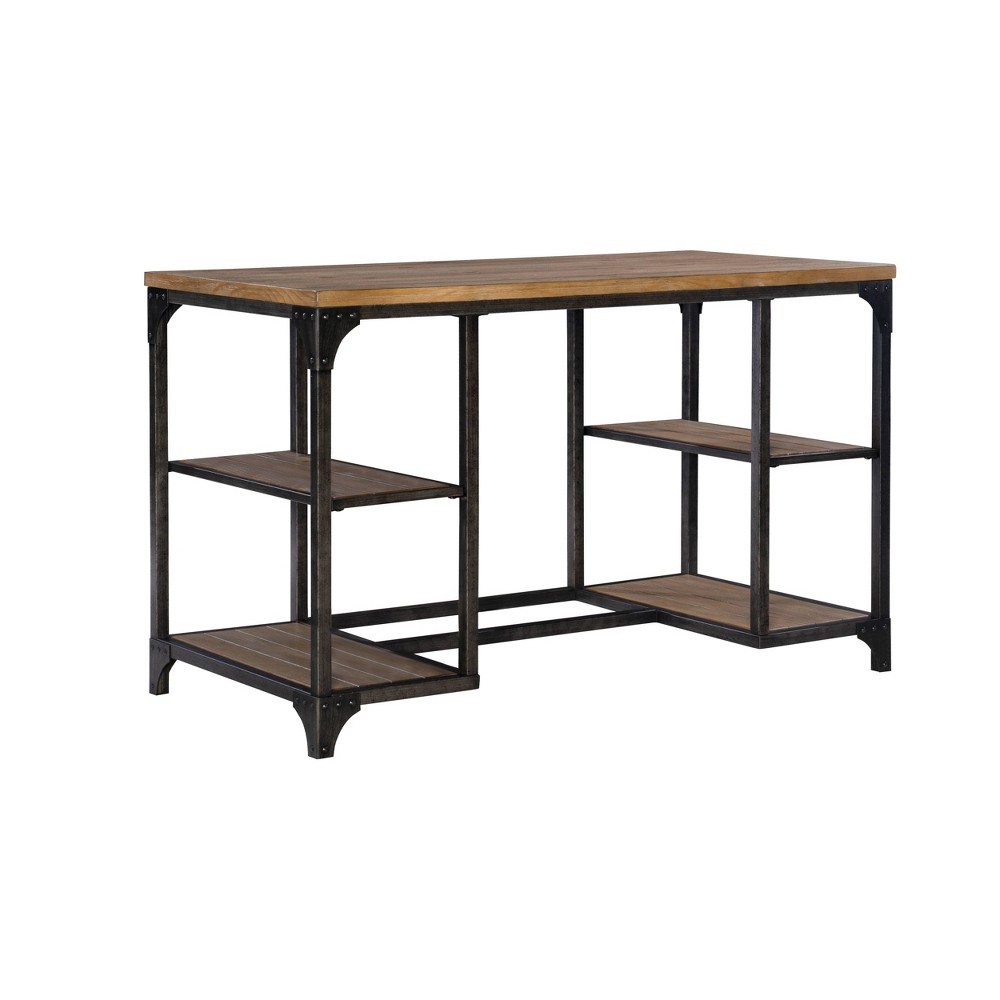 Keith Mixed Material Desk Driftwood - Powell Company from Powell Company