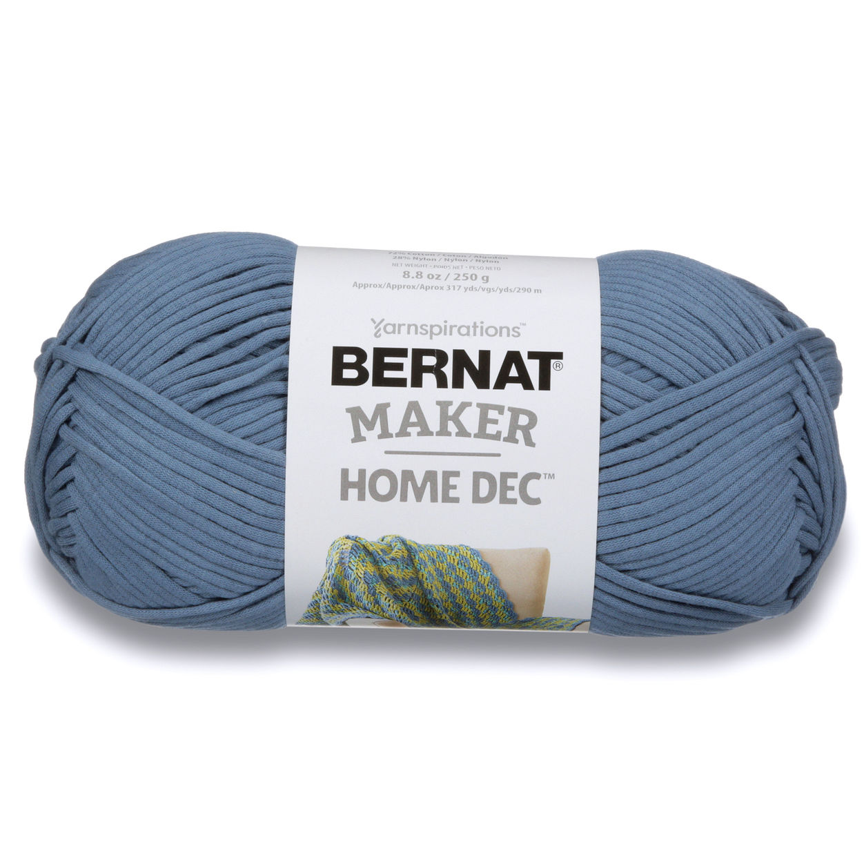 Bernat Maker Home Dec Yarn Steel Blue