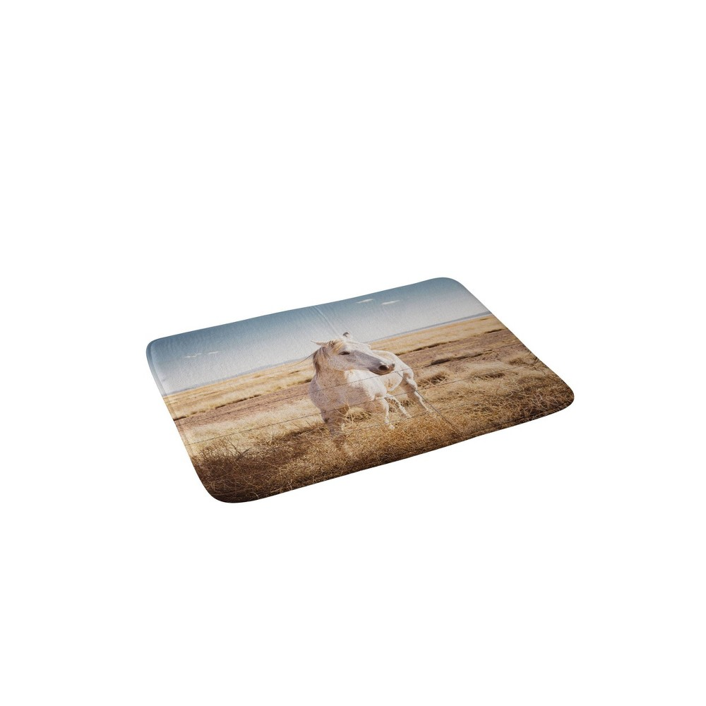 Bethany Young Photography West Texas Wild Memory Foam Bath Mat Beige - Deny Designs from Deny Designs