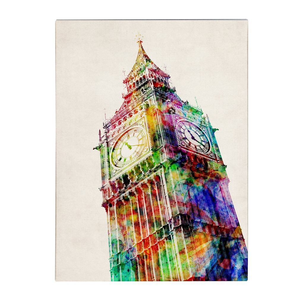 "24"" x 32"" Big Ben by Michael Tompsett - Trademark Fine Art from Trademark Global"