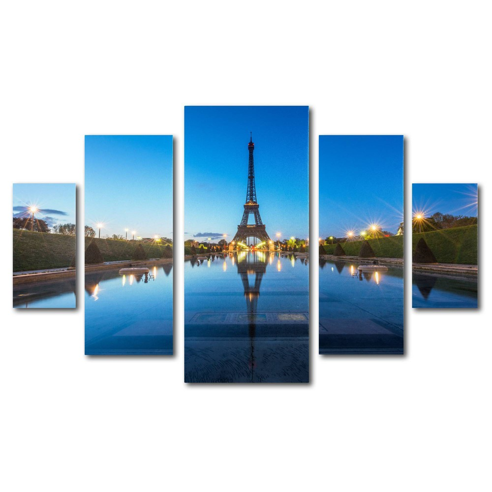 5pc Blue Hour by Mathieu Rivrin - Trademark Fine Art from Trademark Global