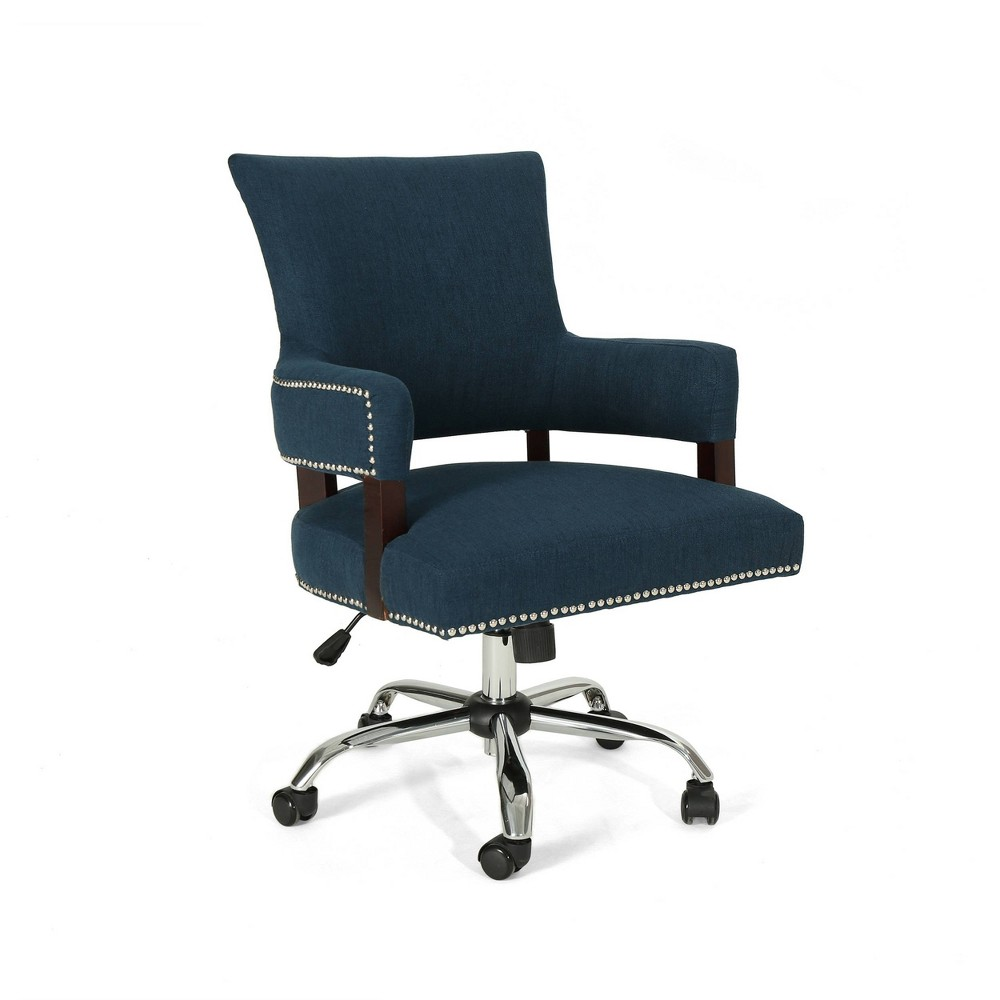 Bonaparte Traditional Home Office Chair Navy Blue - Christopher Knight Home