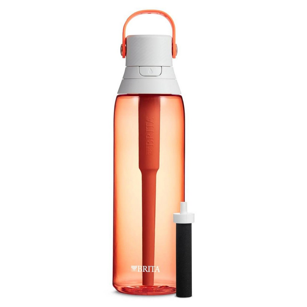 Brita Premium 26oz Filtering Water Bottle with Filter BPA Free - Coral from Brita