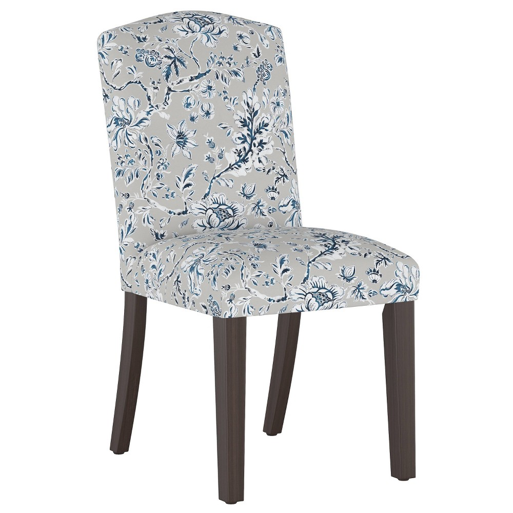Camel Back Dining Chair Indian Blockprint Gray - Skyline Furniture from Skyline Furniture