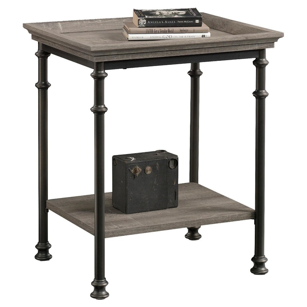 Canal Street Decorative Side Table with Metal Frame - Northern Oak Finish - Sauder from Sauder