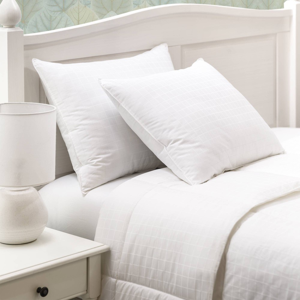 Candice Olson Down Alternative Firm Pillows 2 pack - White (Queen)
