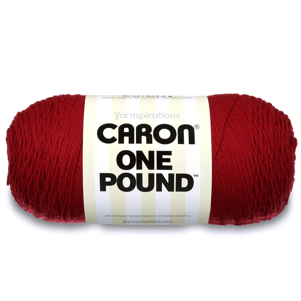 Caron One Pound Yarn Claret