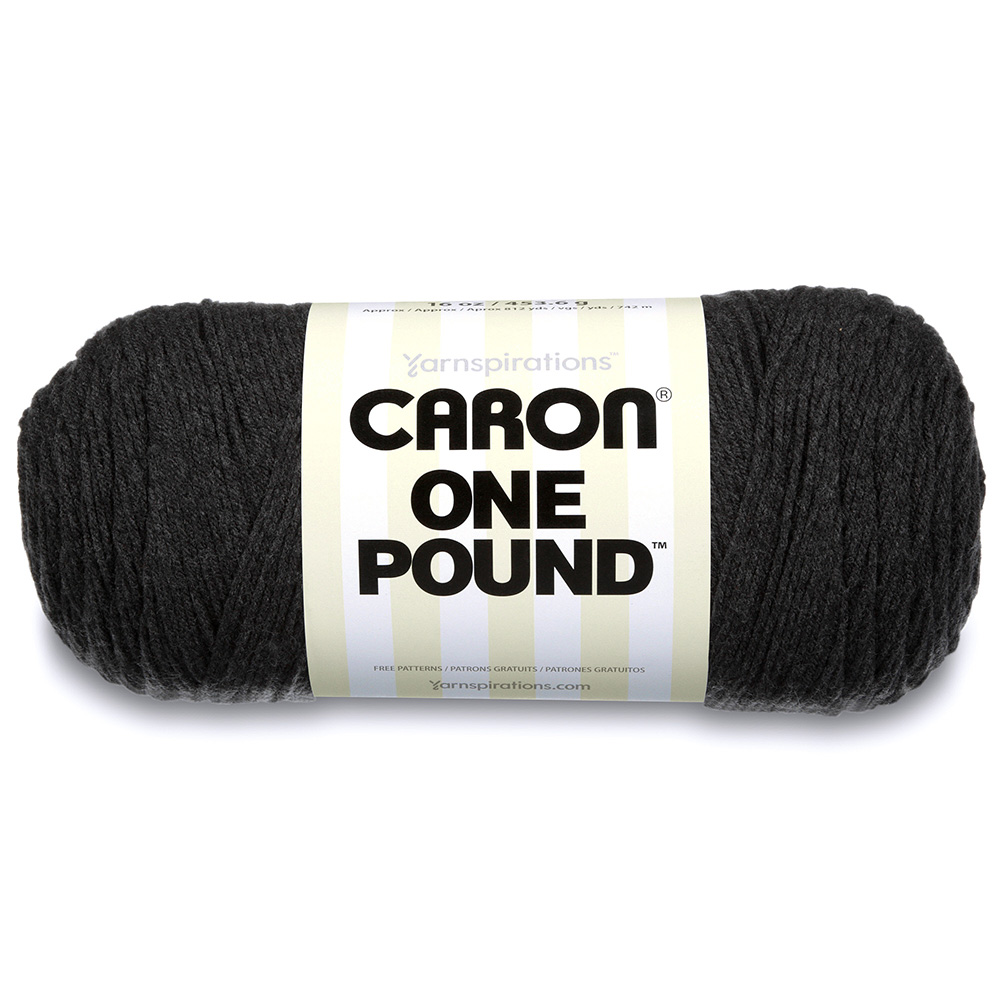 Caron One Pound Yarn Dark Gray Mix