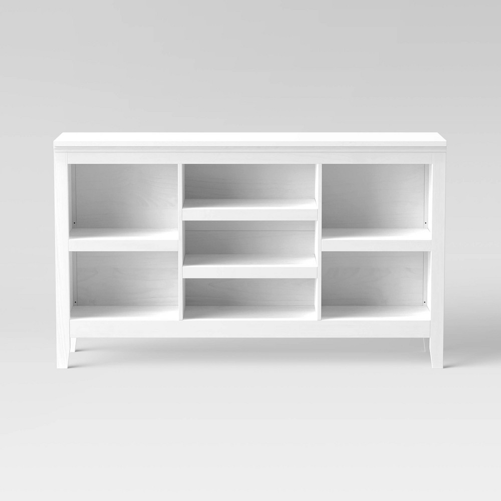 "32"" Carson Horizontal Bookcase with Adjustable Shelves White - Threshold"