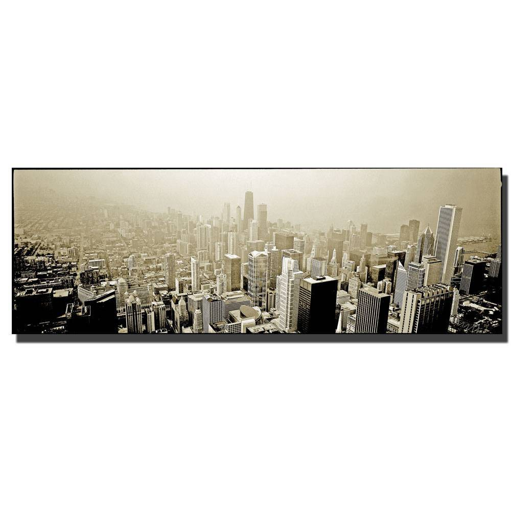 "16"" x 47"" Chicago Skyline by Preston - Trademark Fine Art from Trademark Global"