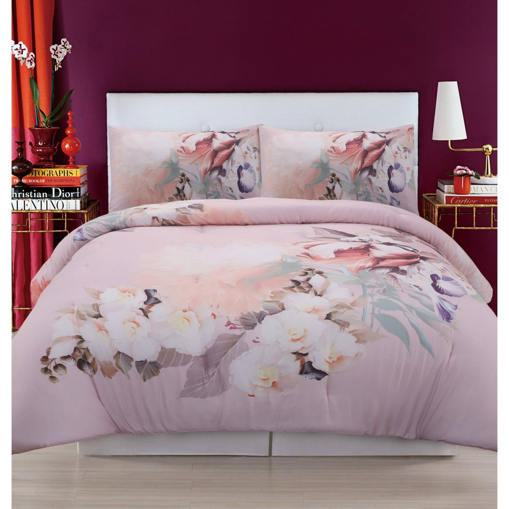 Christian Siriano Dreamy Floral King Comforter Set Multiple, Adult Unisex