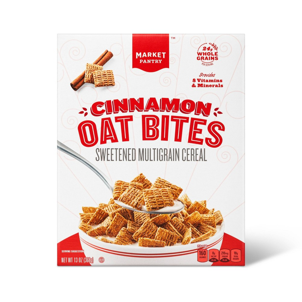 Cinnamon Oat Bits Breakfast Cereal - 13oz - Market Pantry from Market Pantry