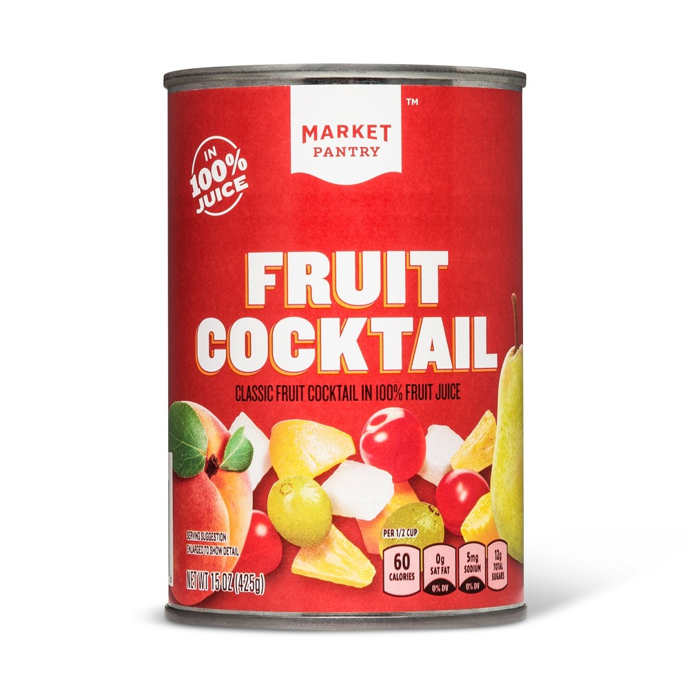 Fruit Cocktail In 100% Fruit Juice 15oz - Market Pantry from Market Pantry