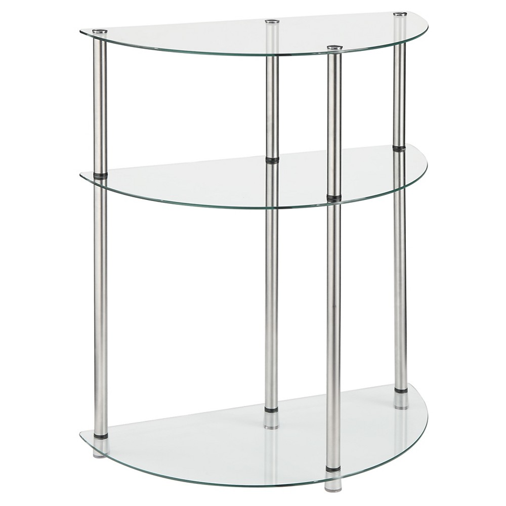 Classic Glass 3 Tier Entryway Table Clear Glass - Breighton Home from Breighton Home